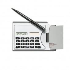 Calculadora Porta Cartão  com Caneta 3919