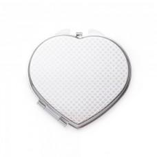Espelho Coração de Metal Duplo com Aumento 13516